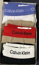 Uomini Calvin Klein CK TAGLIA MEDIA Multi Colore Blk, Wht, GRY Basso Aumento Boxer
