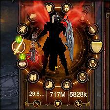 Diablo 3 Ros PS4 [Hardcore] Nuevo 2.6 Génesis Crusader Set - 150 Grift fácil!