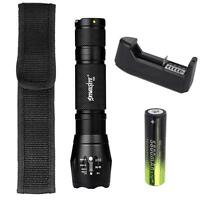 SKYWOLFEYE Zoomable 12000 Lm T6 LJ² Torch Police 5 Modes  Light Lamp JS