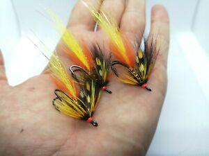 3 Park Shrimp Salmon Flies Size 6-12 Partridge Patriot Doubles