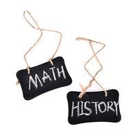 2X Mini Blackboard Chalkboard Wooden Message With Hang String Wedding Decor SEAU