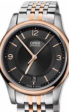 Oris Classic Date Rose Gold/ Steel Unisex 0173375784334 Preowned $725