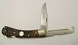 "VINTAGE 5"" REMINGTON UMC R-3 FOLDING KNIFE MADE IN USA > HUNT FISH CAMP HIKE"