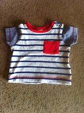Baby Boys T-Shirt By Mini Club For Ages 0-3 Months In CreamBlue