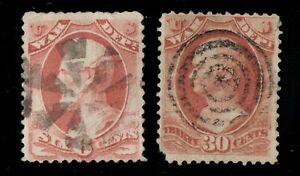 O86-O92 Official Stamps United States used well centered