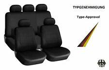 Sitzbezüge Schwarz Komplettset Universal Auto Sitzbezug Schonbezüge Set mit ABE