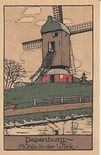 Ansichtskarte Niedersachsen   Papenburg  Mühle in der Wiek  Stein Zeichnung