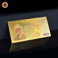 WR 1973s Australian Gold Banknote $50 Dollars Note 24K Gold  Banknote Rare