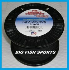 WOODSTOCK BRAIDED DACRON Fishing Line Black Color 200lb-300yd NEW! FREE USA SHIP
