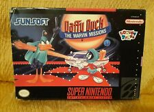 Daffy Duck the Marvin Missions Snes USA NTSC Completo Buono Boxed Sunsoft