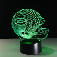 Green Bay Packers LED Light Lamp Collectible Aaron Rodgers Home Decor Gift