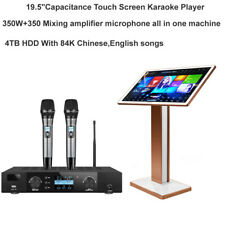 Karaoke Machine 19.5'' Capacitance Touch Screen,4TB HDD 350W*2 Mixing amplifier