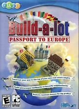 NEW SEALED Build-A-Lot: Passport To Europe PC Video Game travel restore houses