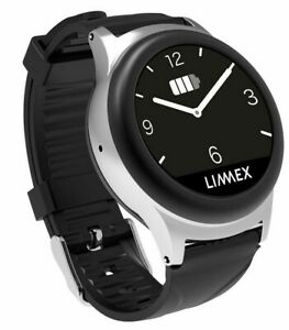 Limmex Notruf Uhr - Schwarz / Silikonband - Senioren Smartwatch - SOS Notruf