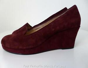 SUPERSOFT BY DIANA FERRARI Women's Shoes Suede Wedges  NEW Size 8C
