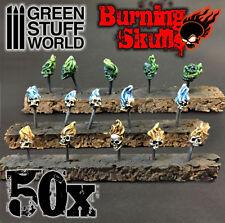 50x Resin Burning Skulls - Sack - Basing Scatter Scenery for Miniature Bases