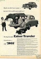 1949 Kaiser Frazer Traveler  Car Print Ad