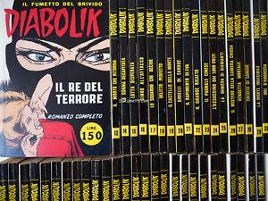 Diabolik Swiisss n. 1/128 sequenza completa ed. Astorina ottimi fumetti noir