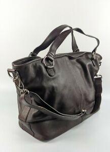 M & S Autograph Large Brown Leather Handbag 42cm x 29cm