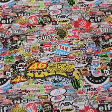 "8 x A4 ""Motor Racing"" Stickerbomb ~ Sticker Bombing Sheets ""Bubble Free"""