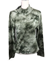 Planet Gold Juniors Size XL Green Tie-Dye Mock Neck Top