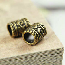 80pcs Antike Messing Spacer Perlen Metall Schmuckteil machen Zylinder 9x7x7mm