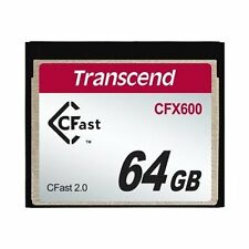 Transcend 64GB CFX600 CFast 2.0 64GB SATA MLC memory card - memory cards