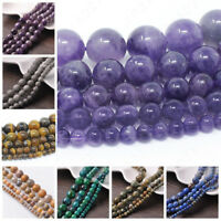 Natural Gemstone Round Spacer Beads Jewelry Making 4mm 6mm 8mm Wholesale DIY