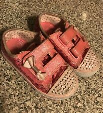 Sketchers Toddler Girls Twinkle toes Sneakers Size 7 Light Ups Pink Pls Read