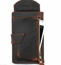 Genuine Leather Case for iPhone XS MAX Book Wallet Cover Cards slots Vintage