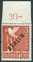 Berlin 19 sauber postfrisch OR Oberrandstück BPP geprüft Schlegel MNH 350 € MNH