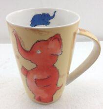 Fun Elephants China Mug Cup Coffee Tea Cocoa Oversize 18 oz Made in India