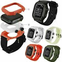 Wasserdicht Schutzhülle Case mit Armband Strap Band Für iWatch Uhr Serie 1 2 3 4