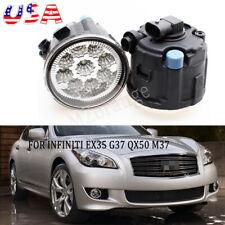 US Fog Light LED Blub For INFINITI EX35 G37 QX50 M37 Bumper Driving Lamp Pair