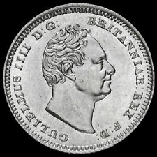 More details for 1837 william iv milled silver fourpence / groat, unc