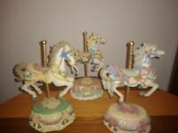 Vintage Heritage House MELODIES COUNTY FAIR COLLECTION (3) Carousel Horses