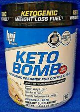 BPI Sports KETO BOMB Ketogenic Weight Loss 18 servings French Vanilla Latte
