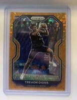 2020 Panini Prizm Trevon Diggs Orange Disco Prizm Rookie Card Dallas Cowboys