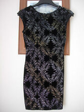 TOP SHOP - LOVELY LITTLE DRESS - SIZE 8 - BLACK & GLITTERY!