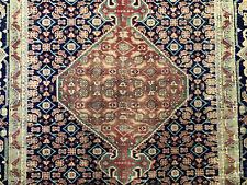 6x9 Blue Antique Rug Hand Knotted Wool Worn Oriental vintage rug handmade carpet