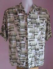 VTG Mens BRUNO Green Multi Pictured Hawaiian Short Sleeve Shirt Size Large