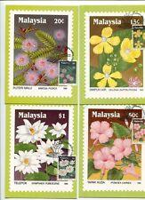 MALAYSIA MAXIMUM CARDS 1990 WILDFLOWERS OF MALAYSIA #931