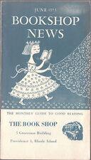 Original June 1953 Bookshop Illustrated & Priced Catalog Rhode Island Bookseller