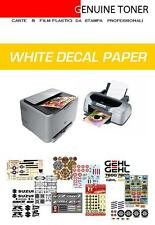 carta decalcomanie, waterslide decal white paper, 3 fogli bianchi A4