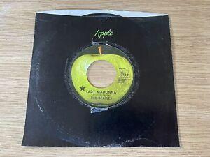 The Beatles Apple 45 record LADY MADONNA company Sleeve 1971 Black Star