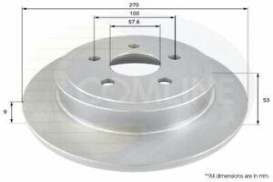 FOR CHRYSLER NEON 2 L COMLINE REAR BRAKE DISCS SET BRAKING DISCS PAIR ADC2308