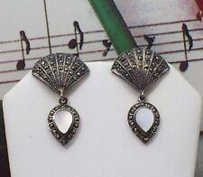 """Marcasite Earrings. 1 1/4"""" Long. MARC0049"""