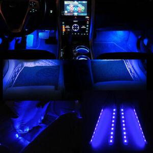 Universal Blue 9 LED Car SUV Accessories Floor Decorative Atmosphere Lamp Light