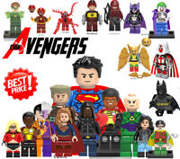 NEWEST! Lego Marvel DC Figures Flash Atom Deadpool Cyclops Wonder Woman Joker