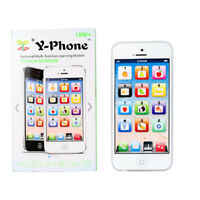 White/Kids Music Toy Cell Phone Educational Learning Touch Screen Child Gift